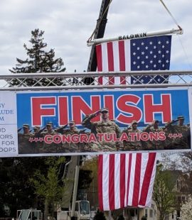 Run for the Troops 5K Road Race Banner